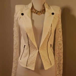 Material Girl lace jacket. Size XS